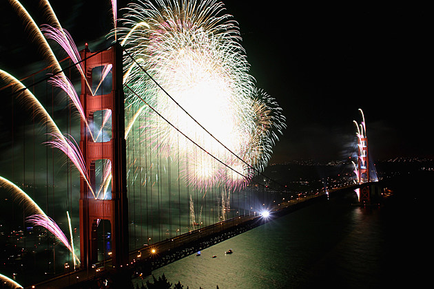 The Golden Gate Bridge 75th Anniversary Fireworks