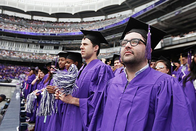 New York University Holds Commencement Ceremony At Yankee Stadium graduation