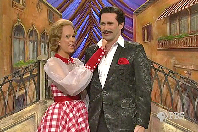 Kristen Wiig and Jon Hamm on 'SNL's' Lawrence Welk Show