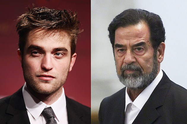 robert pattinson saddam hussein