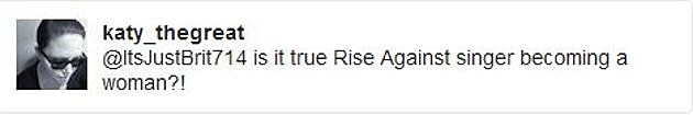 rise against tweet