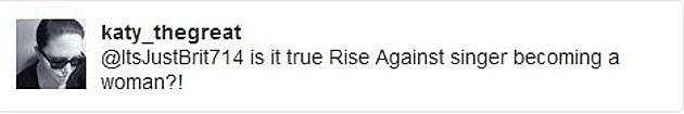 rise against tweet