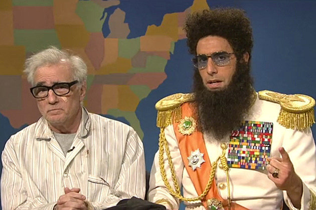 'SNL' Weekend Update - Sacha Baron Cohen as The Dictator and Martin Scorsese