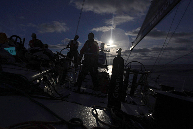 Super Moon 2012 - during the Volvo Ocean Race from Brazil to Miami