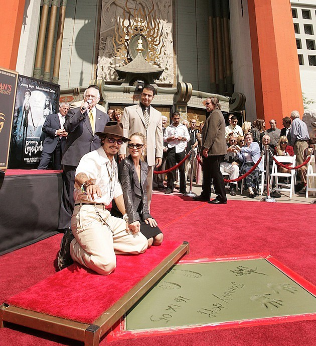 Johnny Depp Hand And Footprint Ceremony