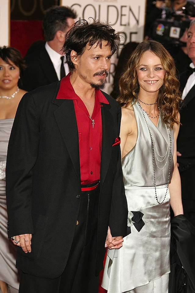 Johnny Depp and Vanessa Paradis Golden Globes
