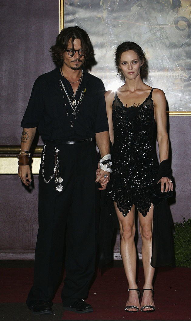 Johnny Depp and Vanessa Paradis Pirates Premier