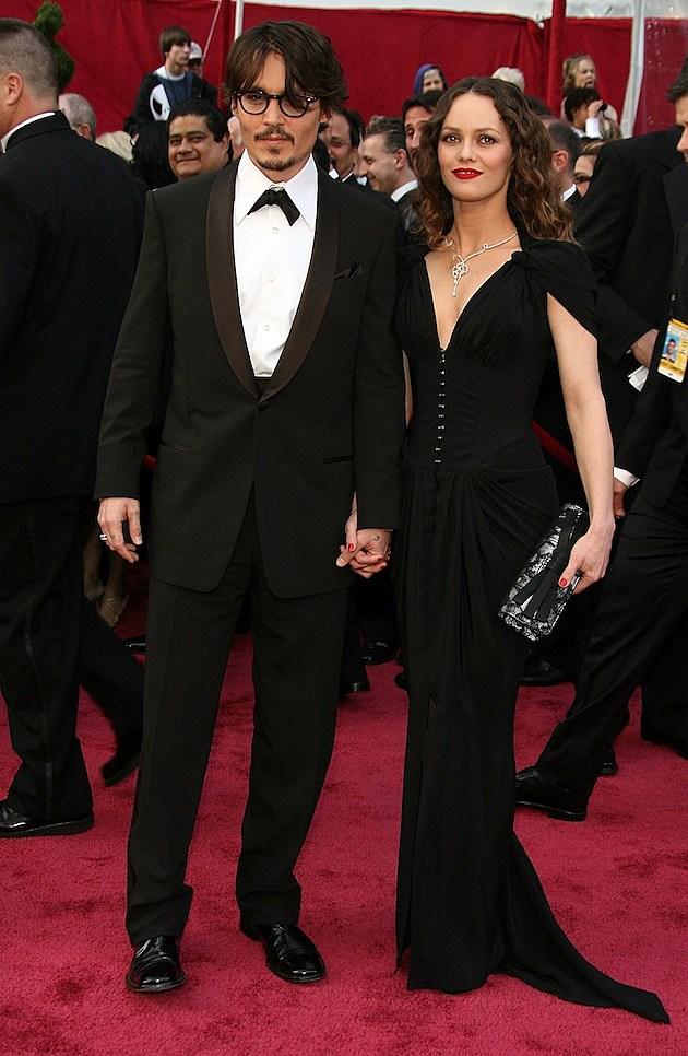 Johnny Depp and Vanessa Paradis Feb 24 2008