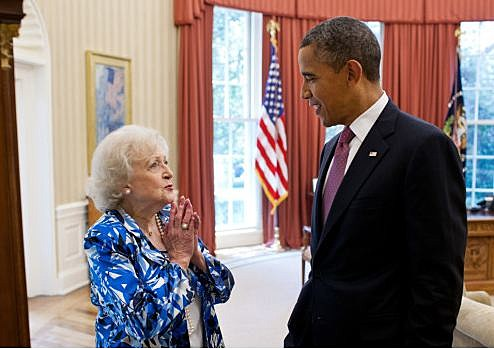 Betty White Obama