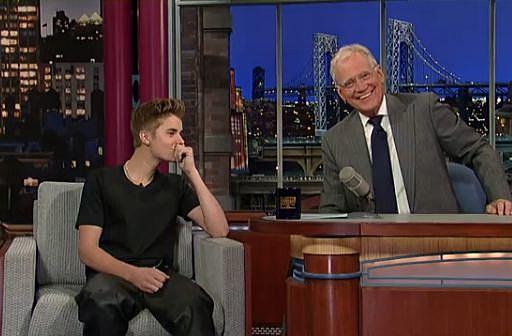 David Letterman Justin Bieber