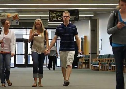 Holding random people's hands