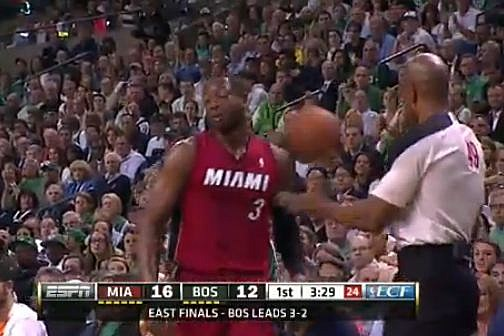 Wade hit in head