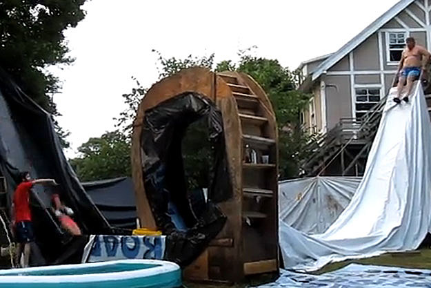 Backyard Water Slide of Doom
