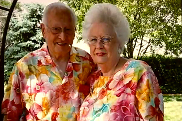 Elderly Couple Wear Matching Outfits