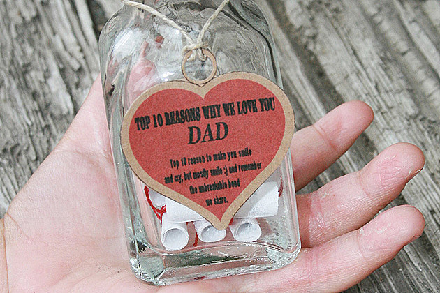 Father's Day messages in a bottle