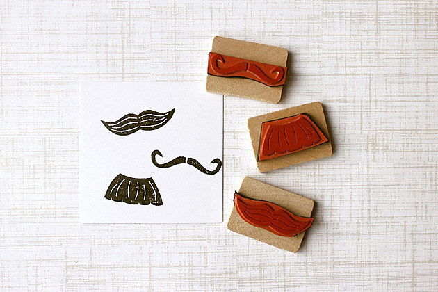 Father's Day mustache stamps