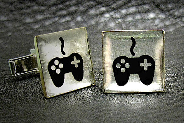 Father's Day video game cuff links