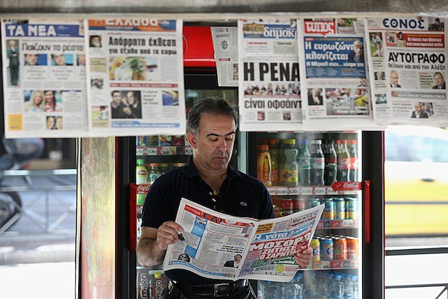 Daily Life In Athens As Greece Prepares To Go To The Polls newspapers