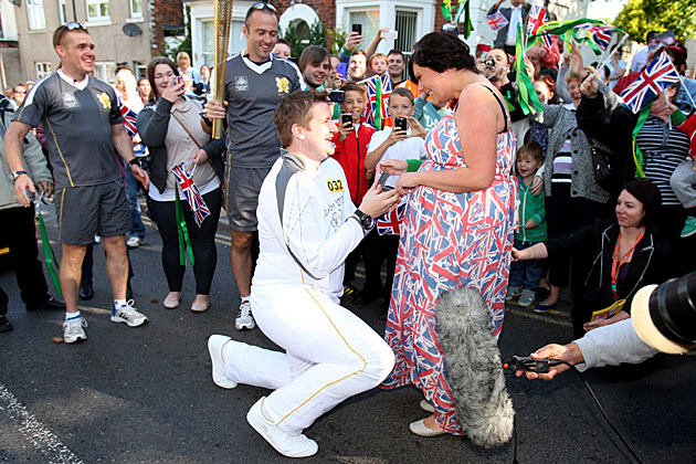 2012 Olympic Torchbearer's Marriage Proposal
