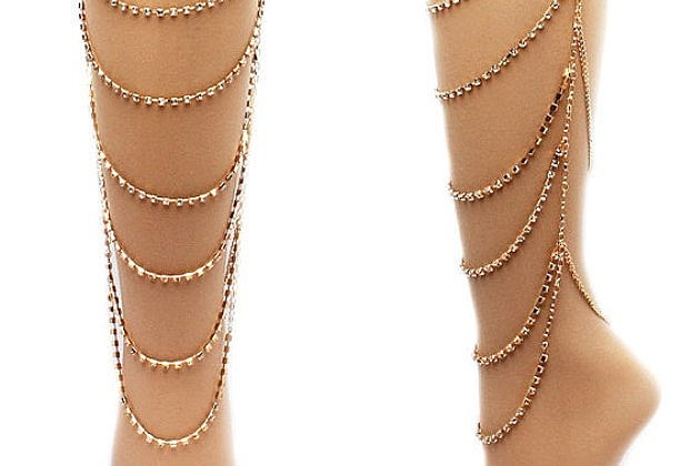 Etsy leg chain jewelry