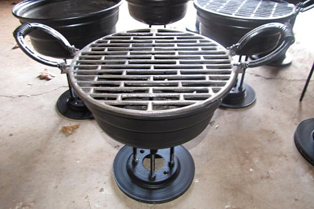 Etsy upcycled recycled metal bbq
