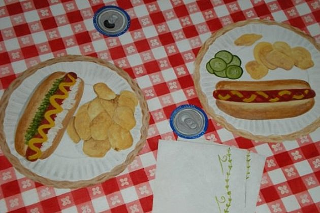 Etsy fake picnic cloth
