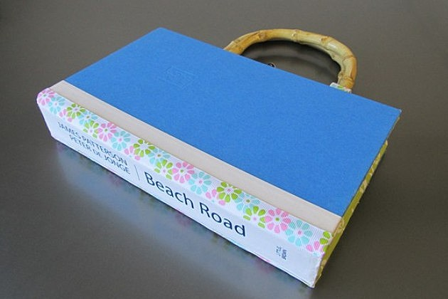 Etsy summer beach book tote bag