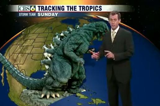 Godzilla weather report