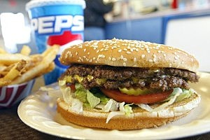 hamburger fries Americans Continue To Consume Beef Products Despite First Case Of Mad Cow Disease In US