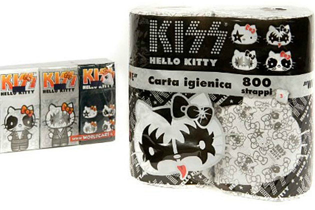 Kiss and Hello Kitty Toilet Paper