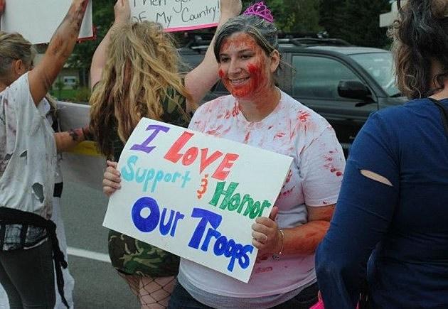Zombie Westboro protest