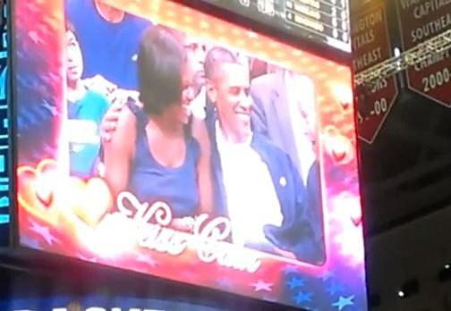 Obamas Kiss cam