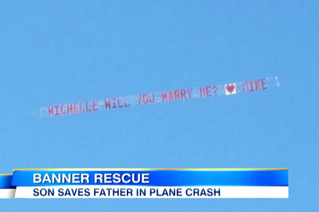 Pilot Crashes Plane While Towing Wedding Banner