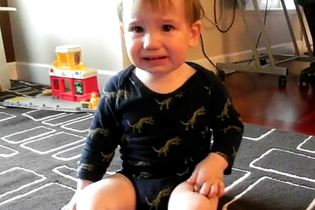 Toddler Hates His Temporary Tattoo