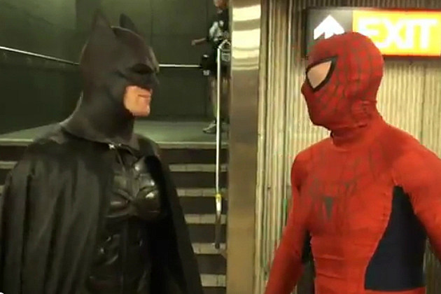 Toronto Batman and Spider-Man Battle