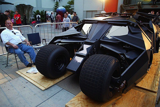 Batman Begins Opening Night batmobile