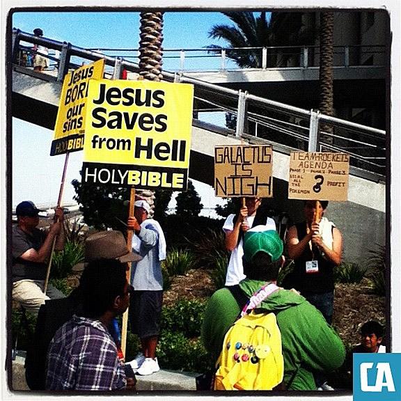 Comic-Con 2012 protest