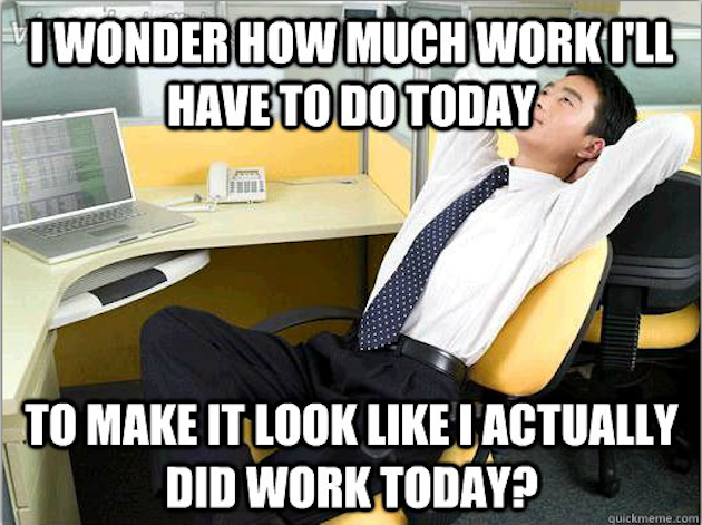 In my first cubicle office job - Meme Guy