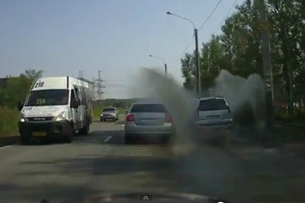 Russian Road Rage Revenge