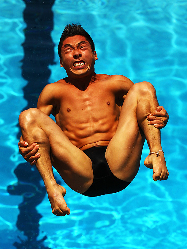 Olympic Diver Faces