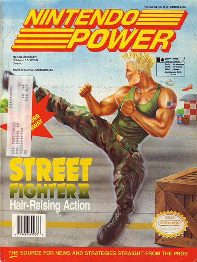 Nintendo Power Street Fighter Cover