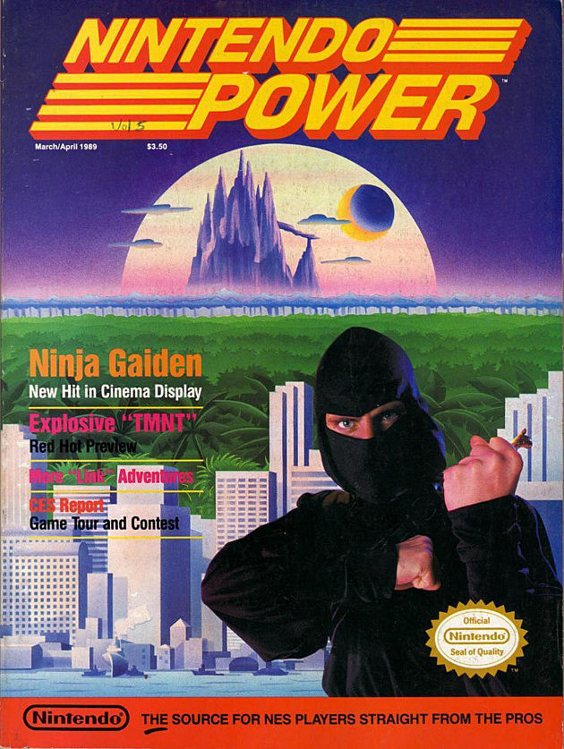 Nintendo Power Ninja Gaiden Cover