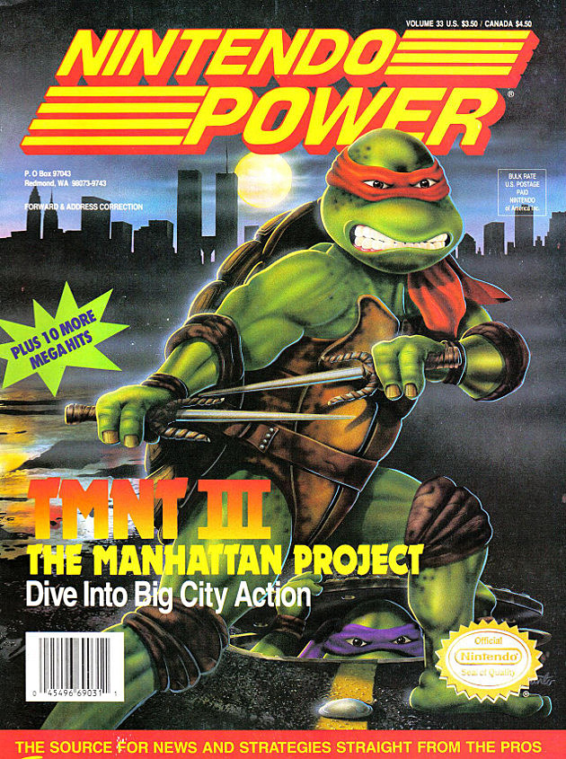 Nintendo Power TMNT III Cover
