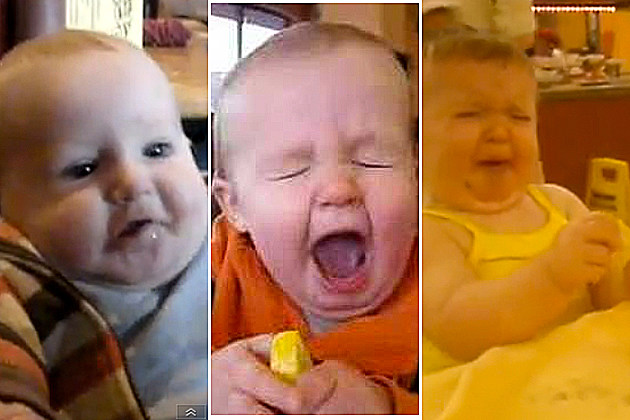 Babies making Lemon Faces