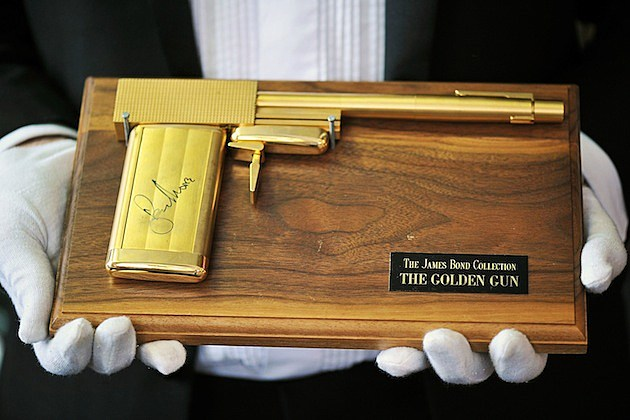 Press Preview For Bonhams' Entertainment Auction man with the golden gun james bond
