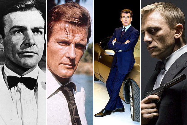 james bond sean connery roger moore pierce brosnan daniel craig
