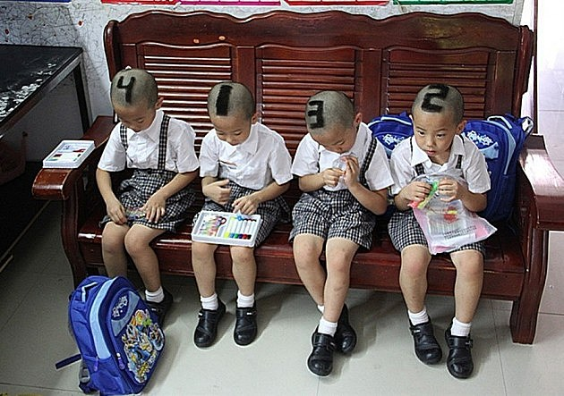 Quadruplets' Haircut