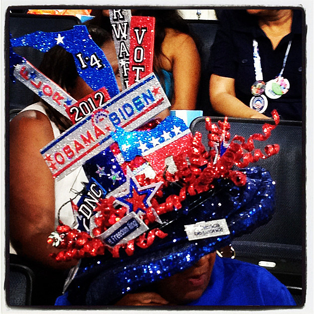 sparkly dnc hat