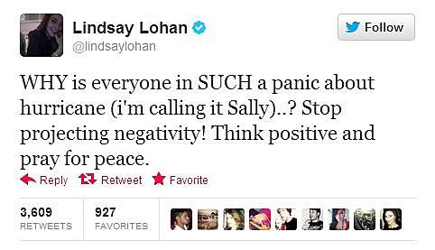 Lindsay Lohan sandy