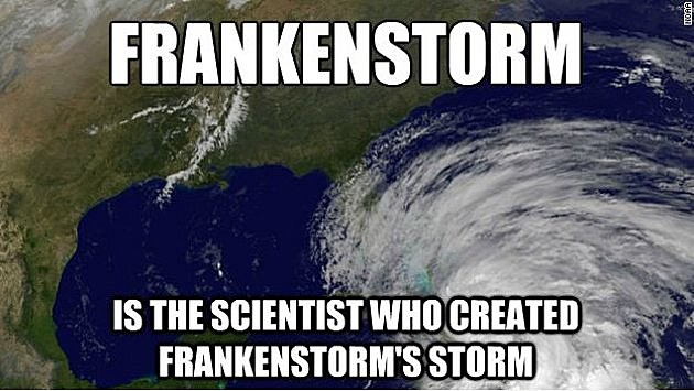 frankenstorm meme